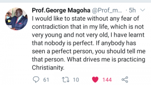 Magoha's Tweet after the PSC stripped off his power
